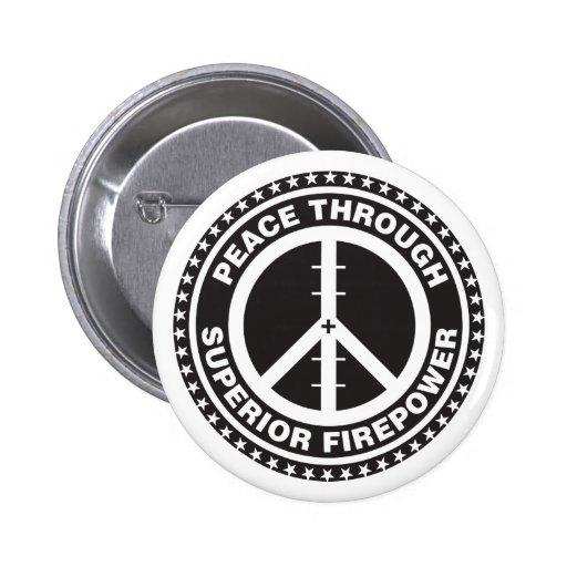 Peace Through Superior Firepower Buttons
