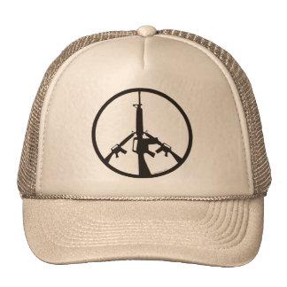 Peace Through Superior Firepower Mesh Hats