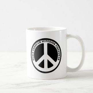 Peace Through Superior Firepower Mugs