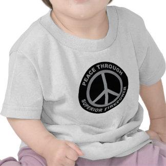 Peace Through Superior Firepower T-shirts