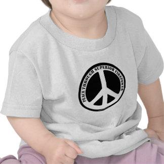 Peace Through Superior Firepower T Shirts