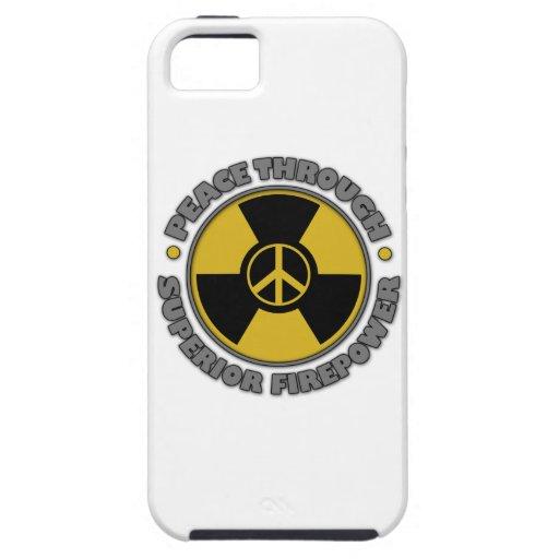 Peace Through Suppior Firepower iPhone 5 Case