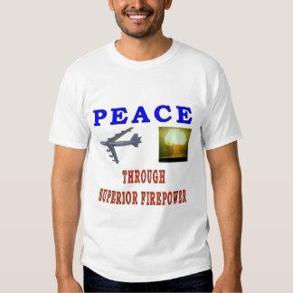PEACE THROUGH T SHIRT