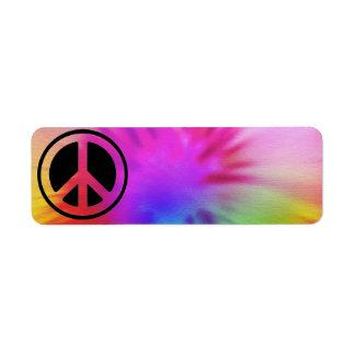 Peace Tie Dye Label Return Address Label