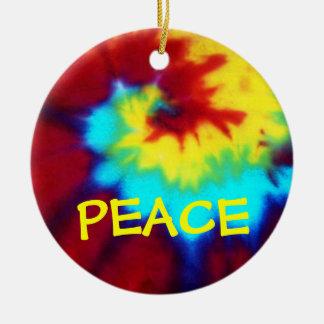 PEACE-Tie Dye Look Design Ornament