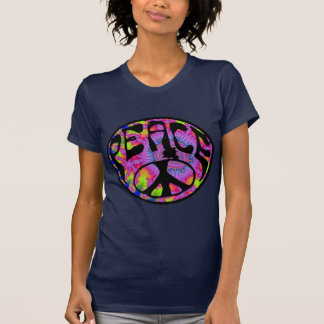 Peace - Tie Dyed Background Tshirts