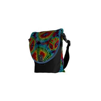 Peace Tie Dyed Rickshaw Mini Zero Messenger Bag