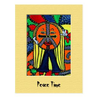 PeAcE tImE Colorful Postcard