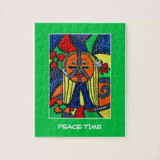 Peace Time Pieces Bright Colors Jigsaw Puzzle