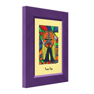 PeAcE TiMe Purple Yellow Canvas Wall Art Canvas Print