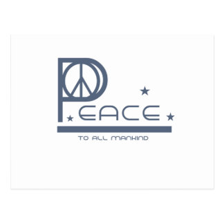Peace to All Mankind Postcard