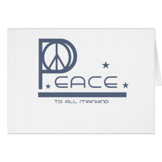 Peace to all Mankind T-shirts and Gifts Card
