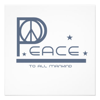 Peace to All Mankind T-shirts and Gifts Custom Announcements