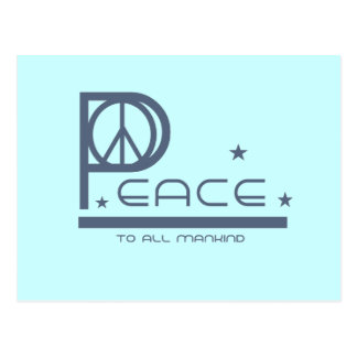 Peace to all Mankind T-shirts and Gifts Postcards