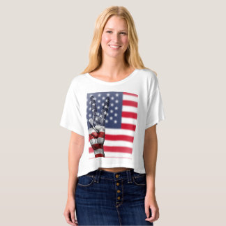 peace to america crop top