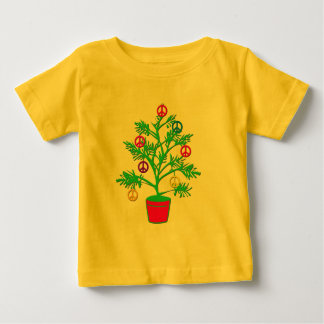 Peace Tree Holiday Tree with Peace Symbols Baby T-Shirt