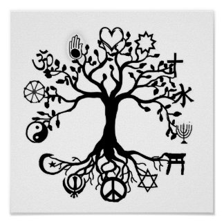 Peace Tree Poster