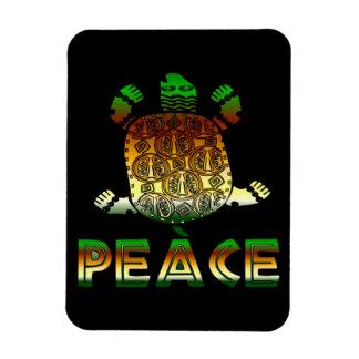 Peace Turtle Rectangular Photo Magnet