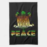 Peace Turtle Kitchen Towel