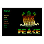 Peace Turtle Pack Of Chubby Business Cards