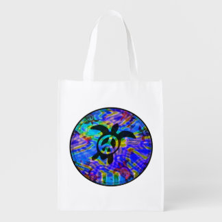 Peace Turtle Reusable Grocery Bags