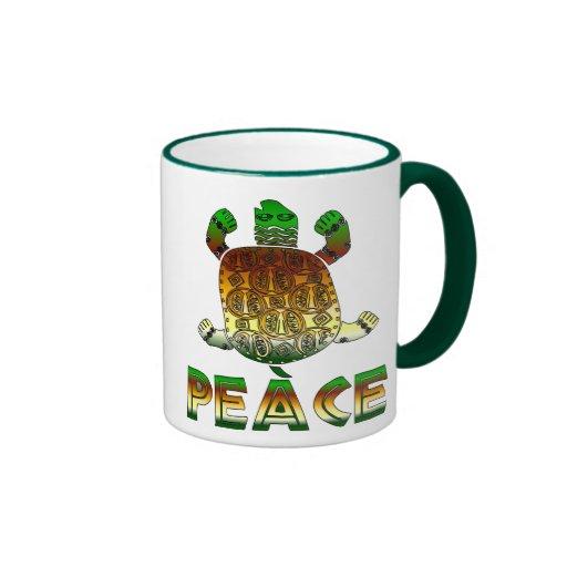 Peace Turtle Ringer Mug