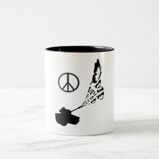 Peace Two-Tone Coffee Mug