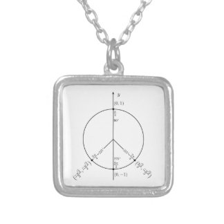Peace Unit.png Silver Plated Necklace