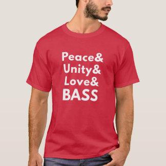 Peace & Unity & Love & BASS (Men's T-Shirt) T-Shirt
