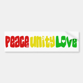 Peace Unity Love Bumper Sticker