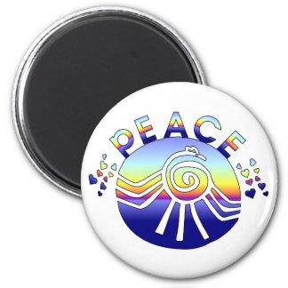 Peace Universe 6 Cm Round Magnet