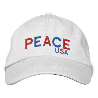 PEACE USA Hat* Embroidered Baseball Caps