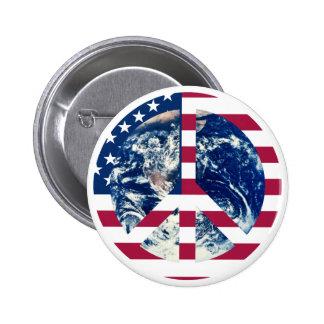 Peace USA sign button