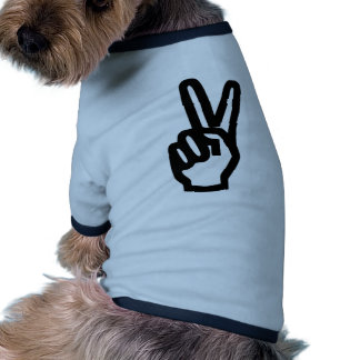 Peace - Victory Ringer Dog Shirt
