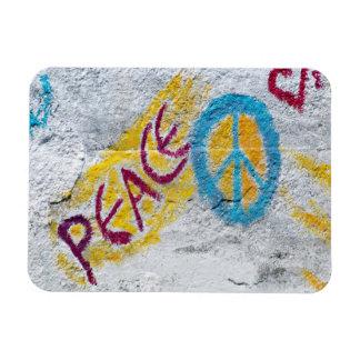 Peace Wall Art Design. Rectangular Photo Magnet