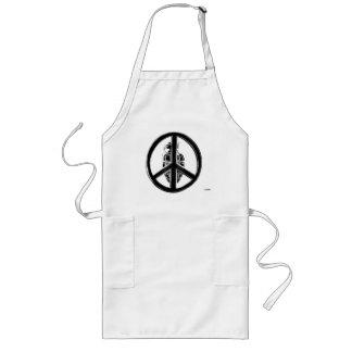 Peace & War (Black) Long Apron