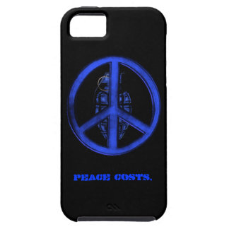 Peace & War (Blue) Tough iPhone 5 Case