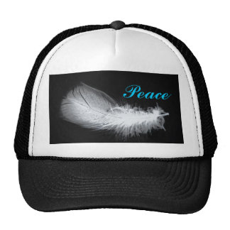 Peace White Feather Beautiful Silent Trucker Hat