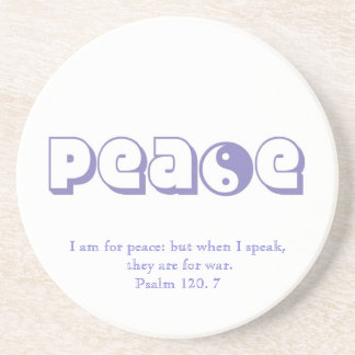 Peace-with Quote from Scripture Beverage Coasters