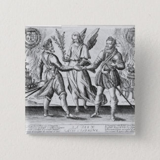 Peace with Spain 15 Cm Square Badge