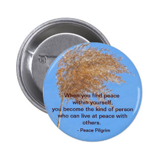 Peace within yourself Button