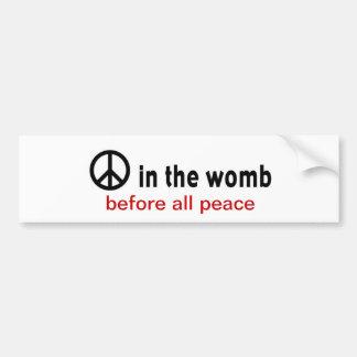 peace womb bumper stickers