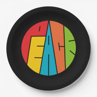 Peace - Word Art 9 Inch Paper Plate