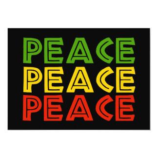 Peace Words 13 Cm X 18 Cm Invitation Card