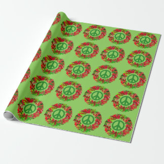 peace wreath wrap wrapping paper