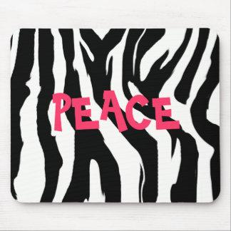 PEACE zebra Mouse Mat