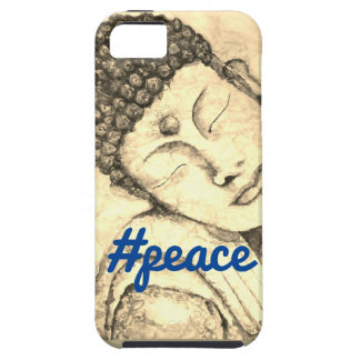 #Peace Zen Buddha Watercolor Art Phone Case