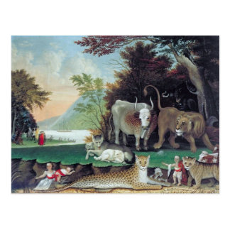 Peaceable Kingdom by Edward Hicks Postcard