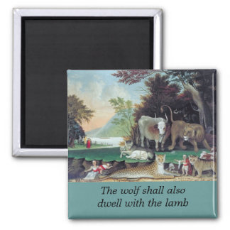 peaceable kingdom by hicks square magnet