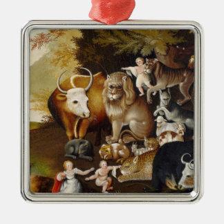 Peaceable Kingdom, c.1834 (oil on canvas) Christmas Ornament